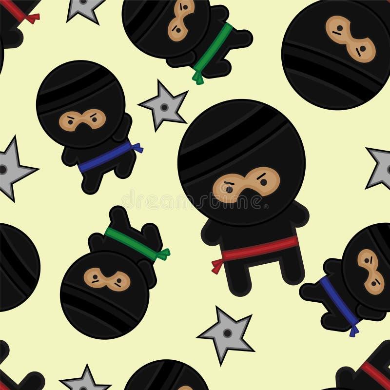 Telha sem emenda de Ninja ilustração do vetor