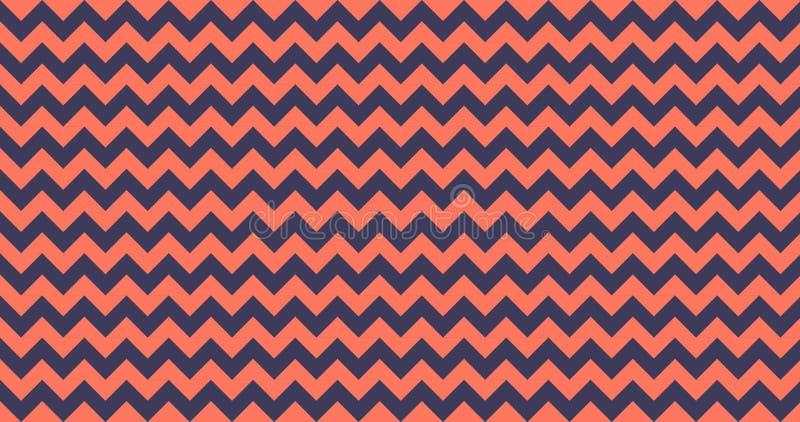 telha sem emenda do teste padr?o do vetor de 4K Ombre Chevron horizontalmente em viver Coral Color Listras do ziguezague Fundo da ilustração royalty free