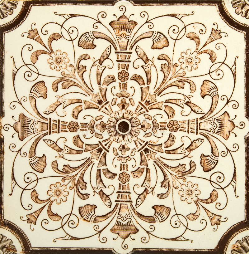 Telha simétrica imagens de stock royalty free