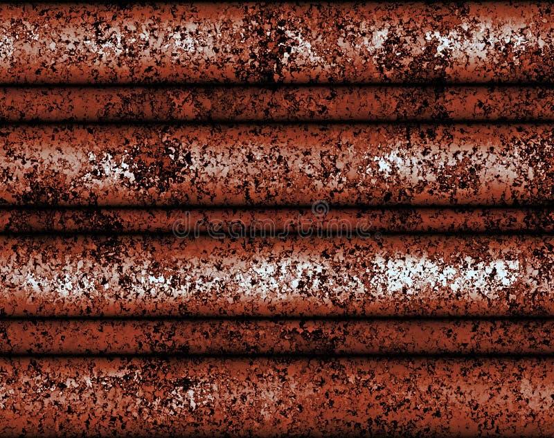 Telha velha do metal do sumário da pintura de Digitas com fundo sujo da oxidação ilustração do vetor