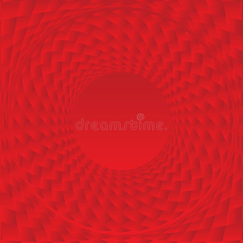 Telha vermelha abstrata 02 ilustração stock