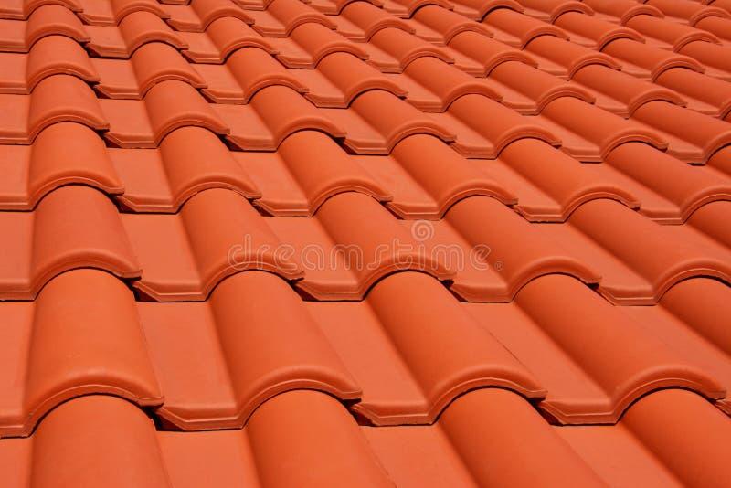 Telha vermelha da textura do telhado imagem de stock royalty free