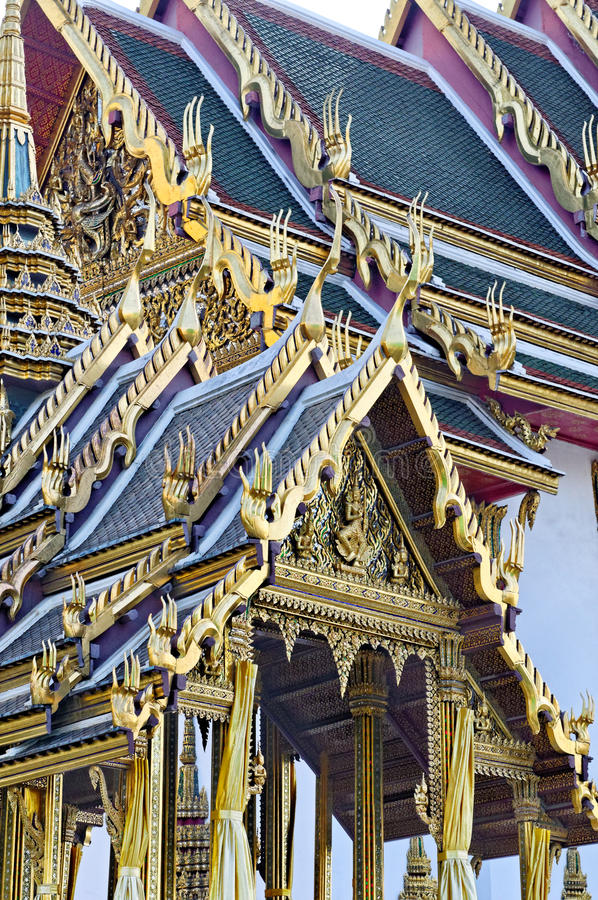 Telhado budista fotografia de stock royalty free
