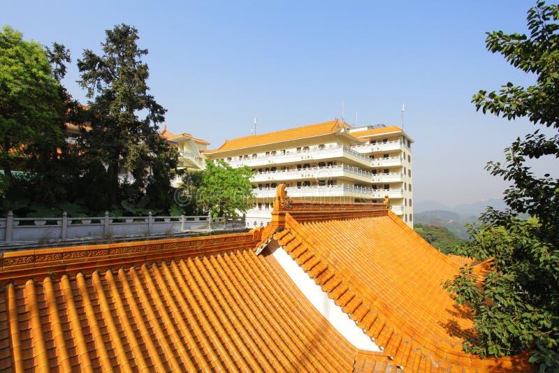 Telhado chinês do templo imagem de stock royalty free