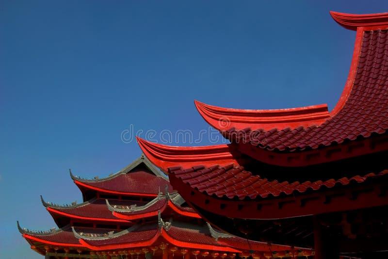 Telhado chinês do templo foto de stock