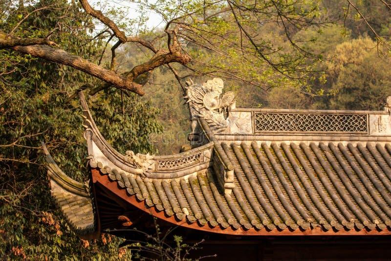 Telhado chinês do templo fotografia de stock