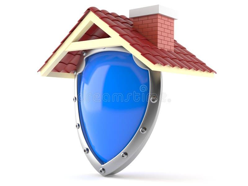 Telhado com protetor protetor ilustração royalty free