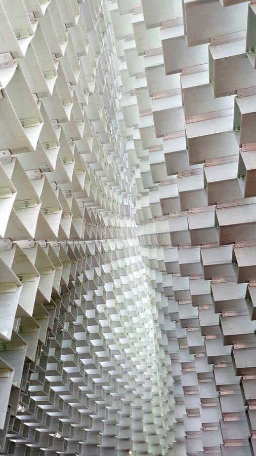 Telhado curvado do projeto da caixa imagem de stock