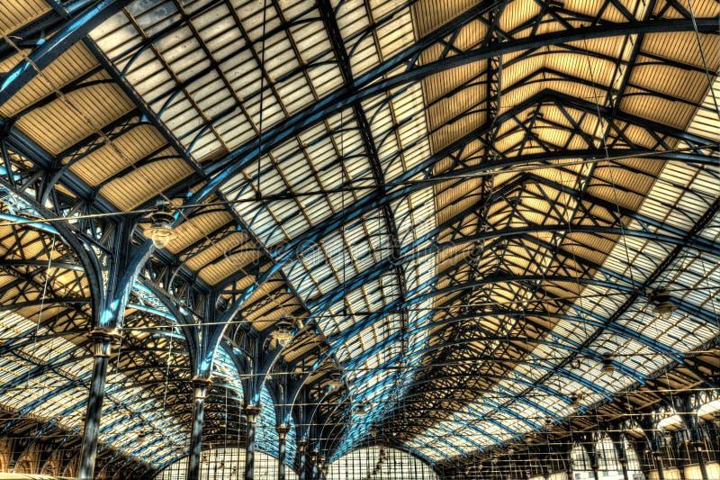 Telhado da estação de trem de Brigghton fotografia de stock