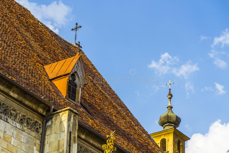 Telhado da igreja fotografia de stock royalty free