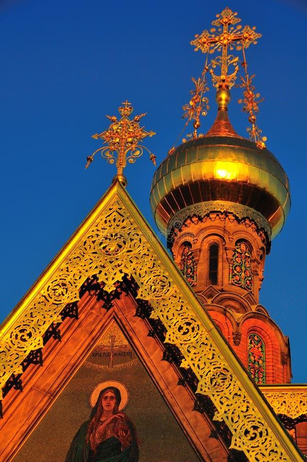 Telhado da igreja ortodoxa do russo imagem de stock royalty free