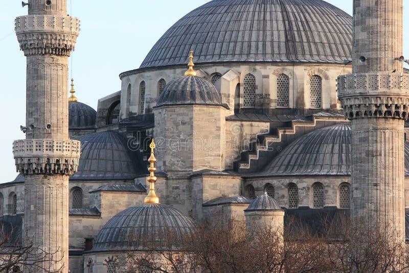 Telhado da mesquita azul imagens de stock
