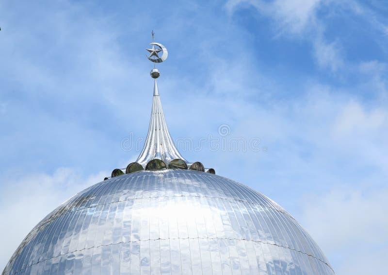 Telhado da mesquita em Sorong imagem de stock