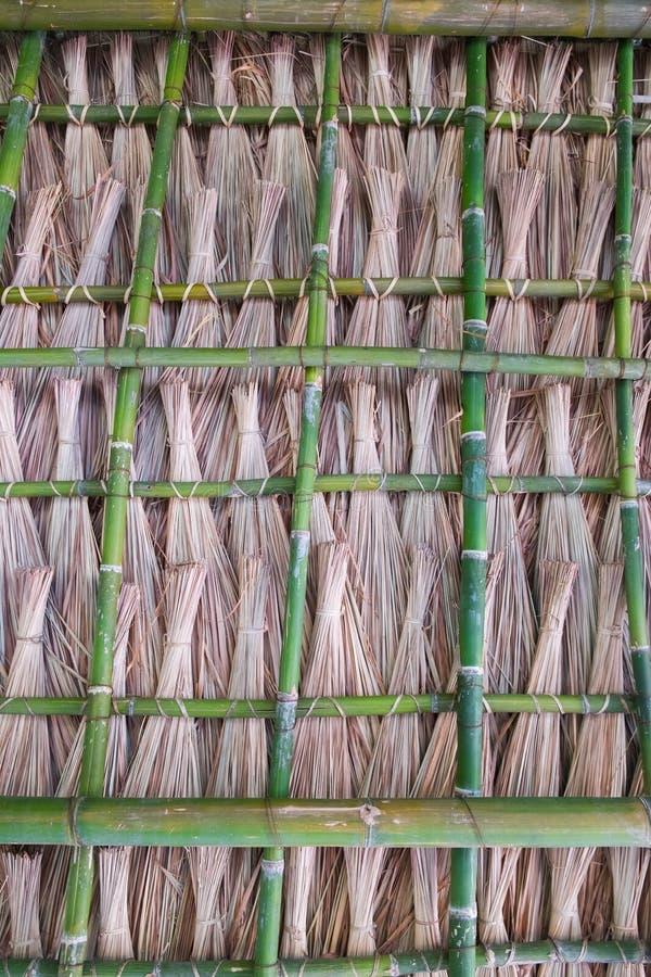 Telhado de bambu fotografia de stock royalty free