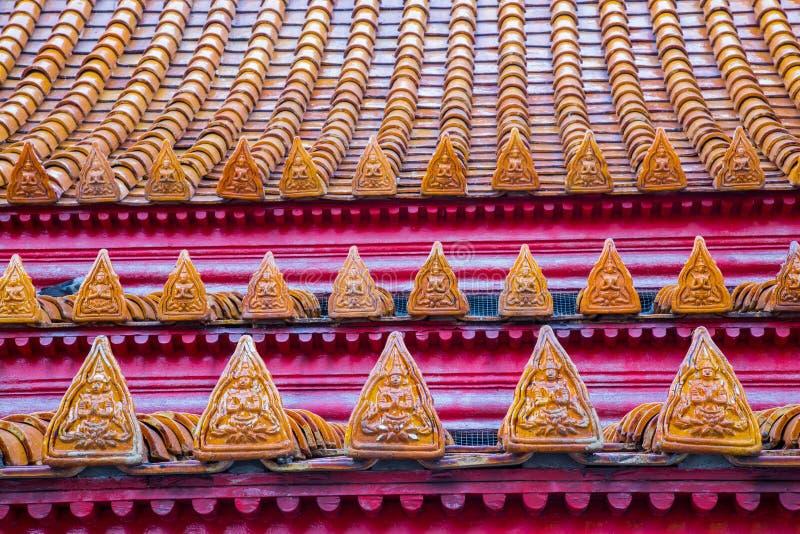 Telhado de mármore do templo foto de stock