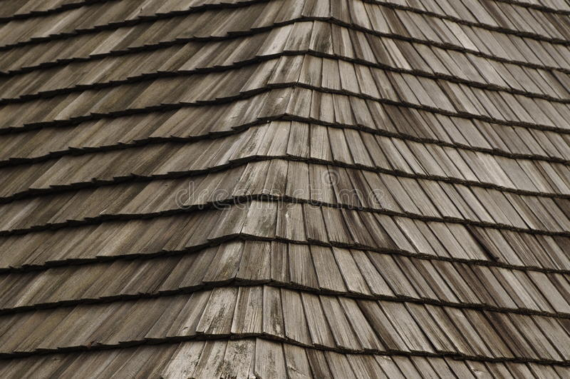 Telhado de madeira imagens de stock royalty free