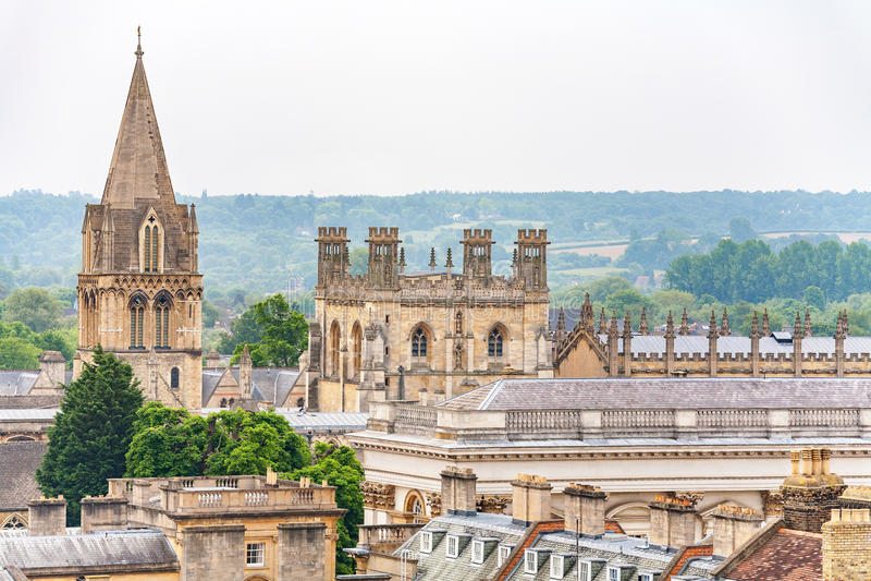 Telhado de Oxford inglaterra imagens de stock royalty free