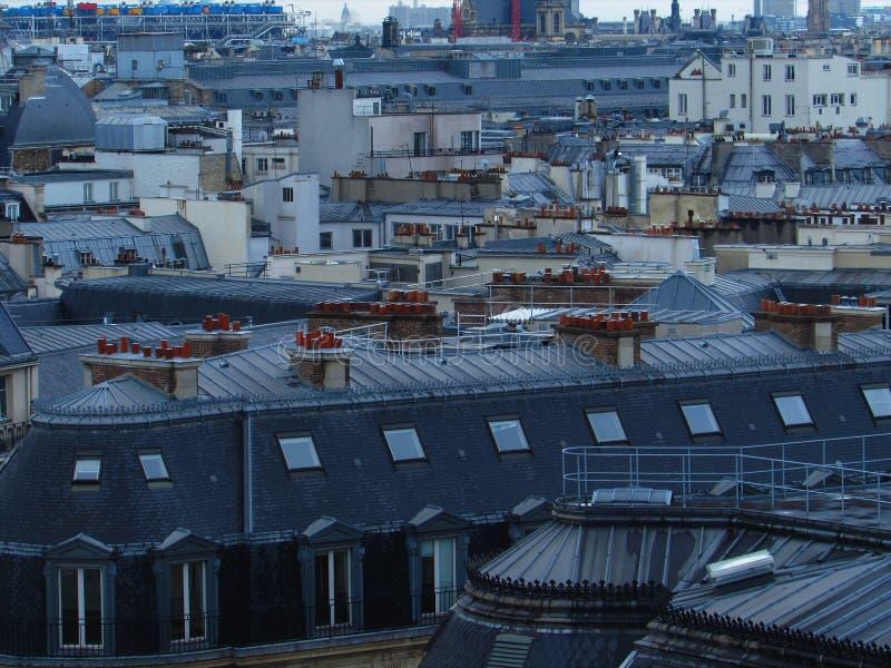 Telhado de Paris fotos de stock