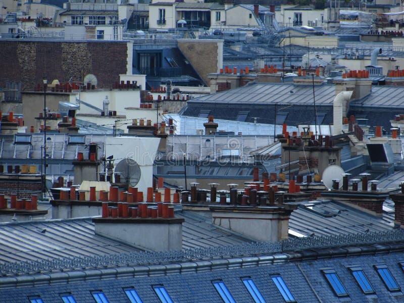 Telhado de Paris imagem de stock