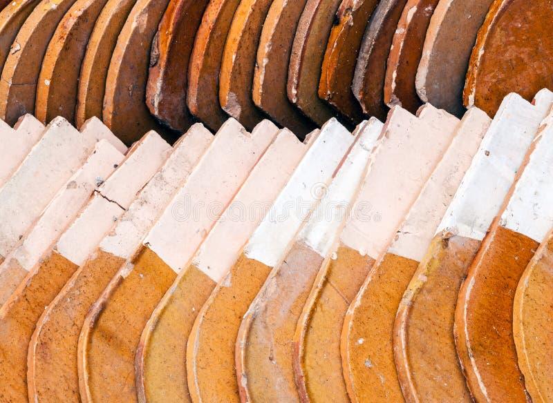 Telhado de telha alaranjado fotografia de stock royalty free
