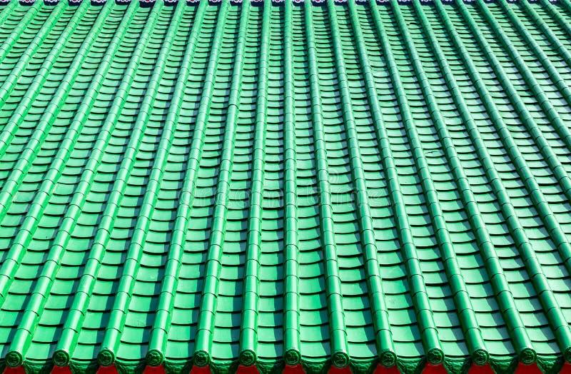 Telhado de telha verde, estilo chinês fotografia de stock royalty free