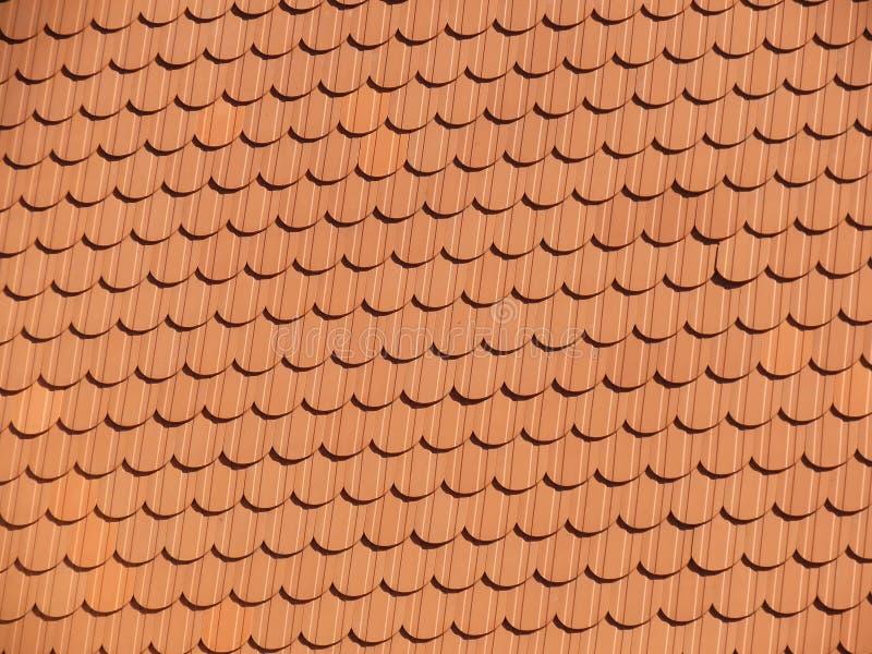 Telhado de telhas vermelhas foto de stock royalty free