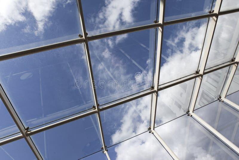 Telhado de vidro moderno fotos de stock royalty free