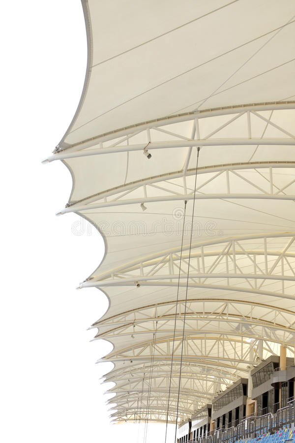 Telhado do anfiteatro, circuito do International de Barém foto de stock royalty free