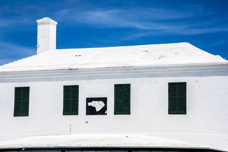 Telhado do branco de Bermuda imagens de stock