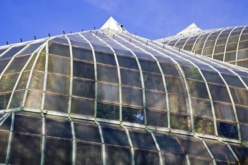 Telhado do conservatório do parque de Lincoln fotografia de stock royalty free