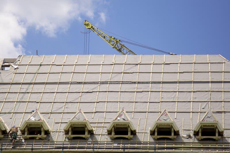 Telhado do edifício fotografia de stock