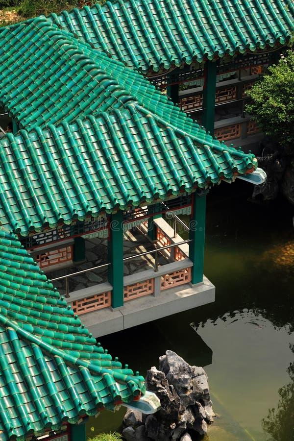 Telhado do edifício chinês imagens de stock royalty free