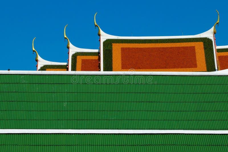 Telhado do templo de Krachao do golpe foto de stock royalty free