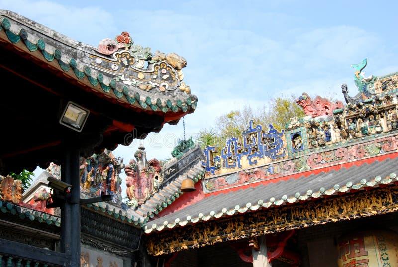 Telhado do templo de Zumiao imagem de stock royalty free
