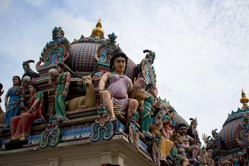 Telhado do templo hindu em singapore fotos de stock royalty free