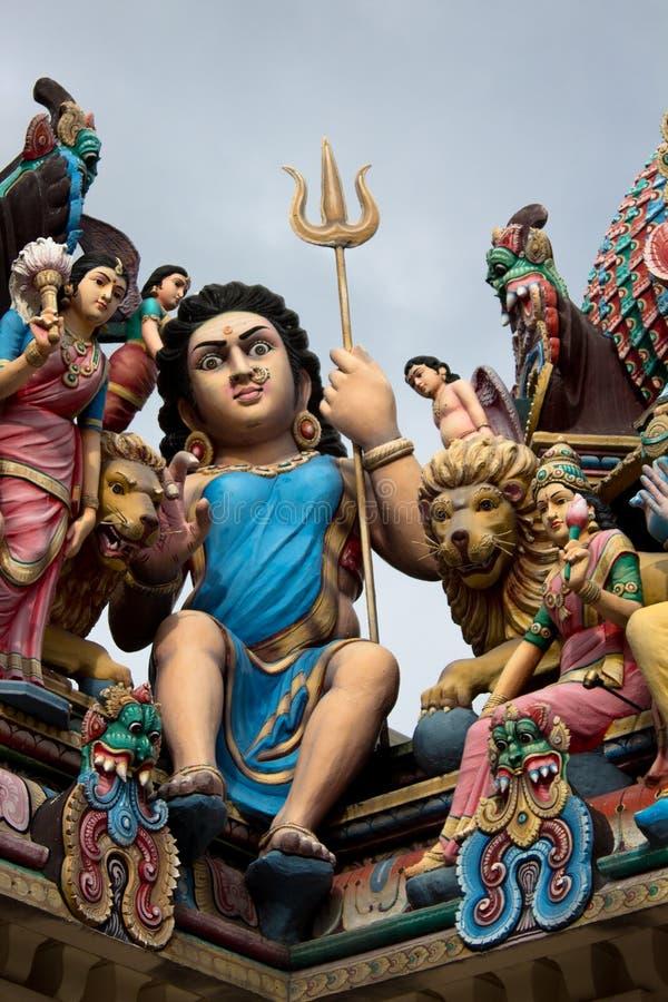 Telhado do templo hindu em singapore imagem de stock royalty free
