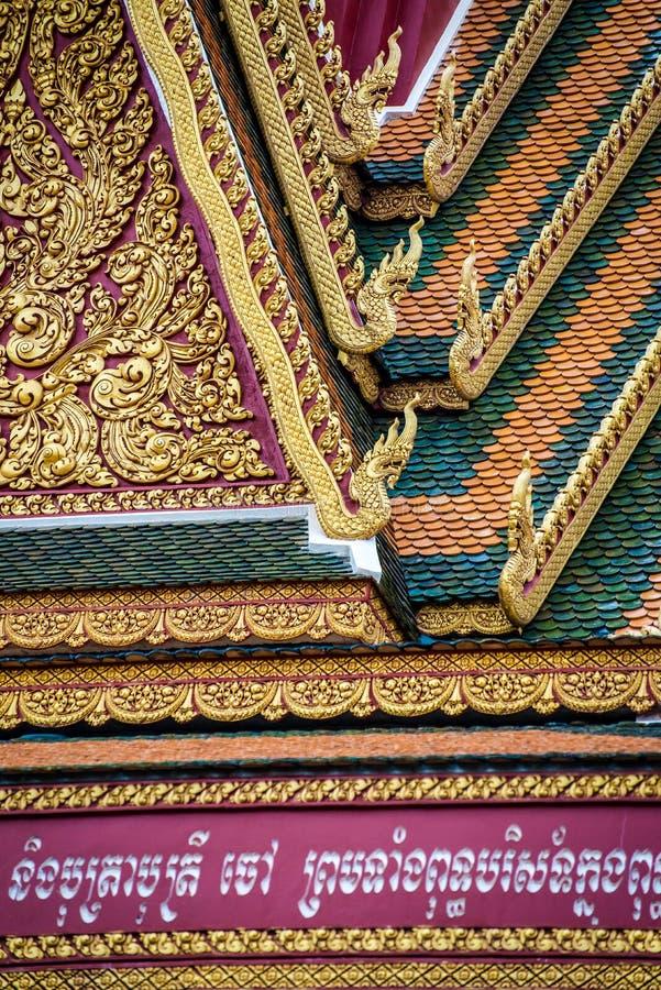 Telhado dourado do templo imagens de stock royalty free