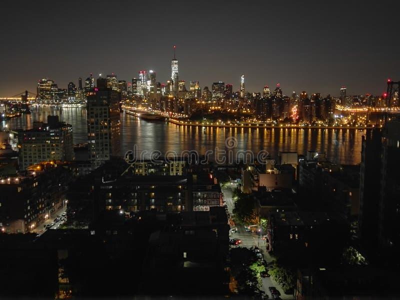 Telhado em Williamsburg, Brooklyn imagens de stock royalty free