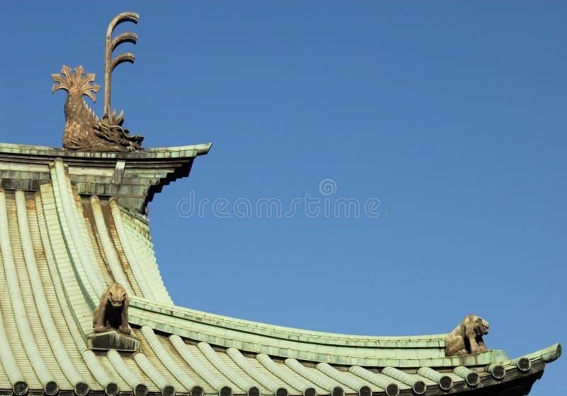 Telhado em Yushima Seido imagens de stock