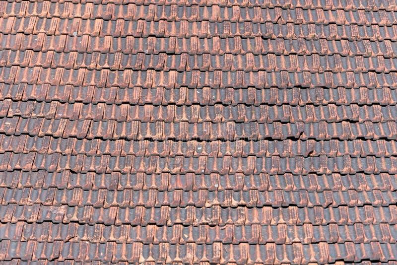 Telhado ou telha vermelha Muito popular em Lituânia, Vilnius Velho, Uniqu foto de stock royalty free