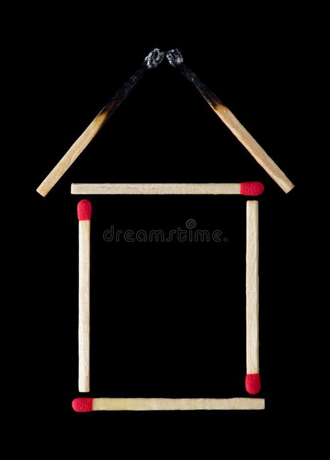 Seguro de fogo para sua casa imagem de stock royalty free