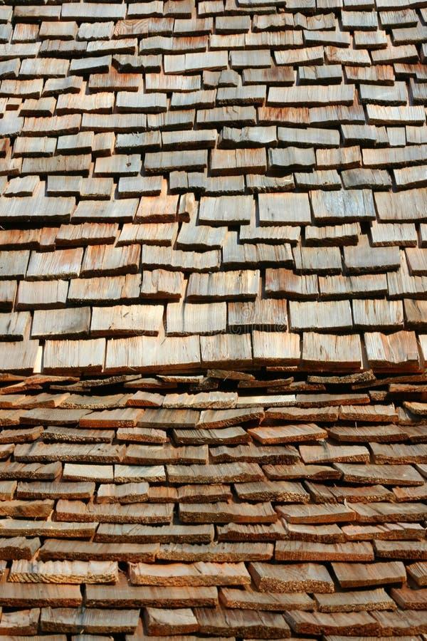Telhado Shingled madeira foto de stock