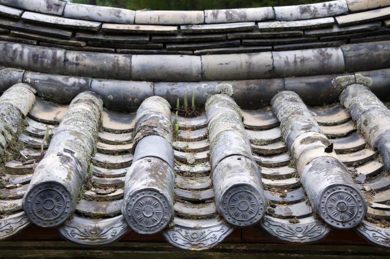 Telhado tradicional, Coreia do Sul fotografia de stock
