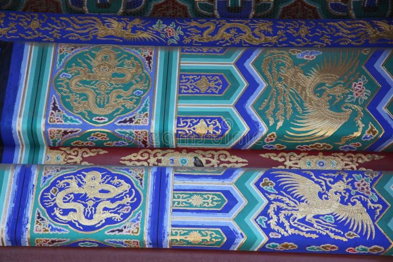 Telhado velho clássico de China no cofre-forte de céu imperial fotografia de stock royalty free