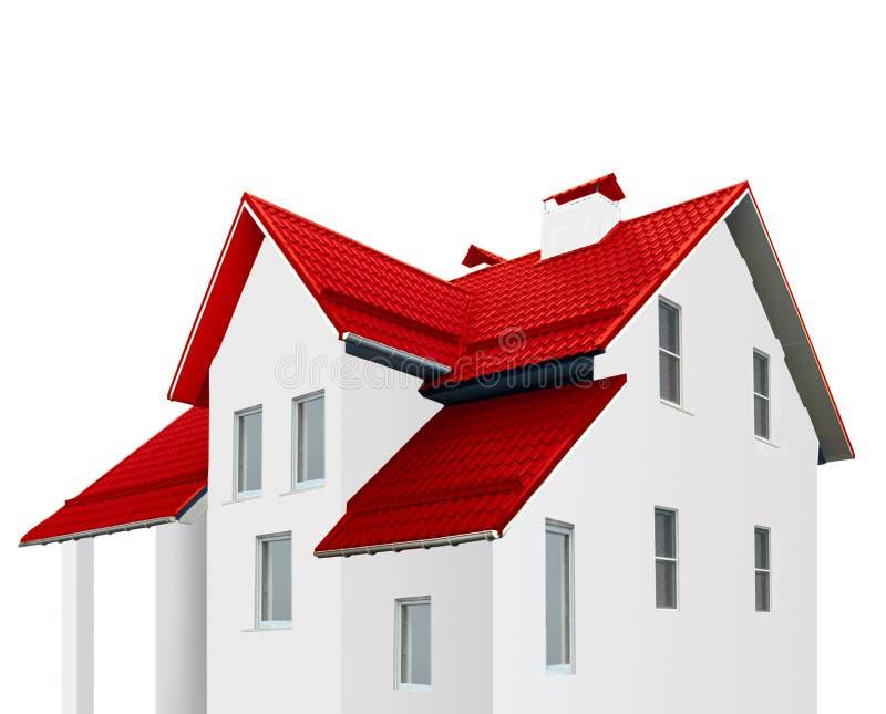 Telhado vermelho ilustração stock