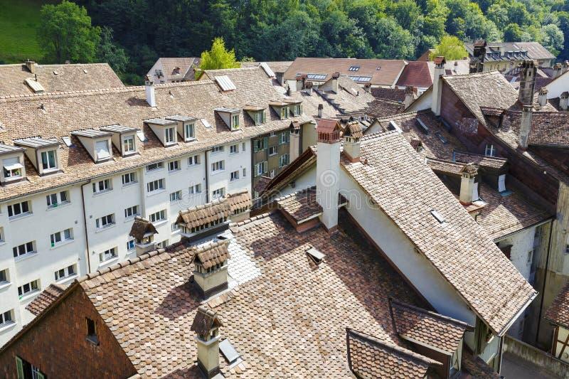 Telhados da cidade de Berna fotografia de stock