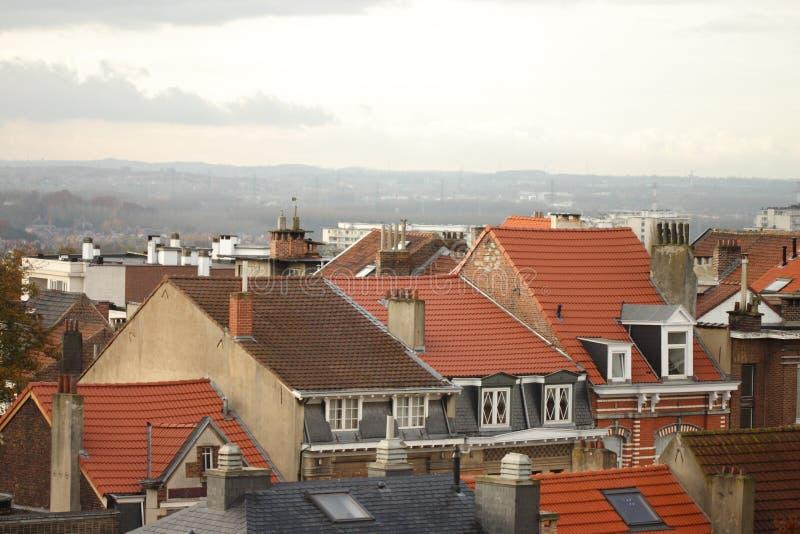 Telhados da cidade velha fotos de stock royalty free