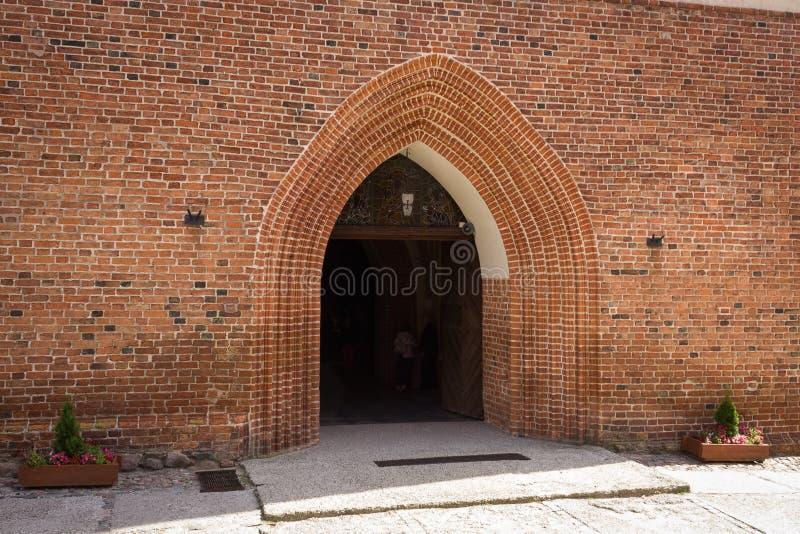 Telhados da cidade velha de Reszel imagens de stock royalty free