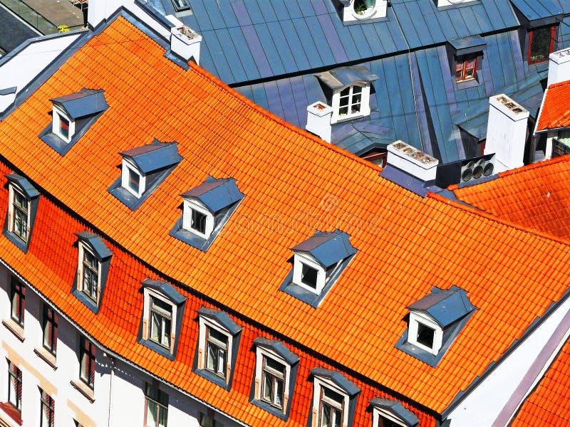 Telhados das casas fotografia de stock