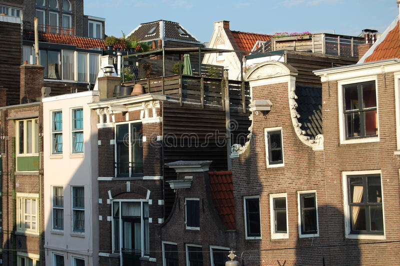 Telhados de Amsterdão foto de stock royalty free